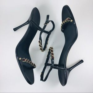 Gucci Chain-Link Web Sandals